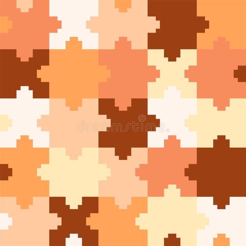 Puzzle de pixel Vecteur illustration stock
