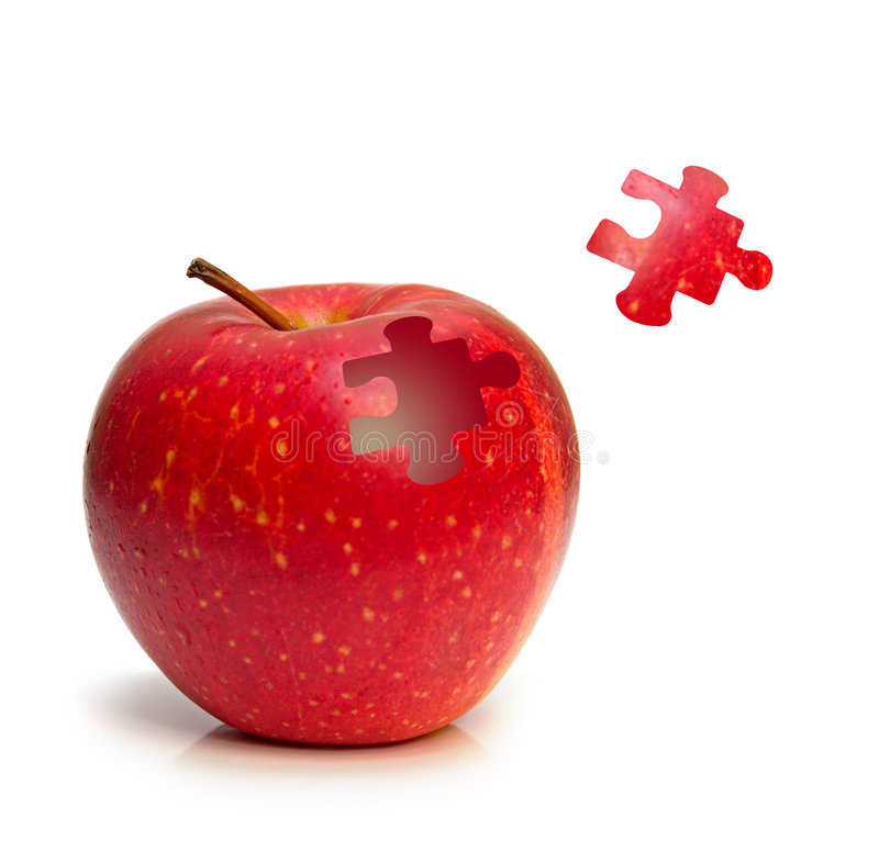 puzzle de pomme photographie stock