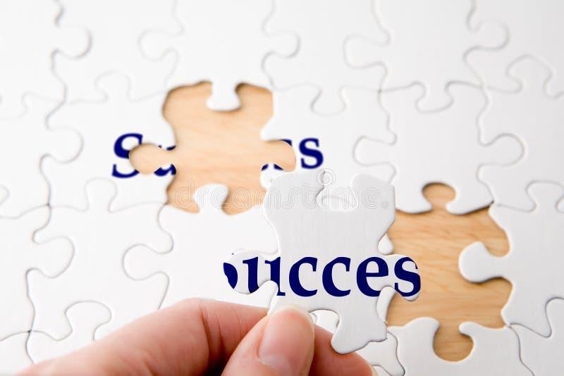 Puzzle de réussite images stock