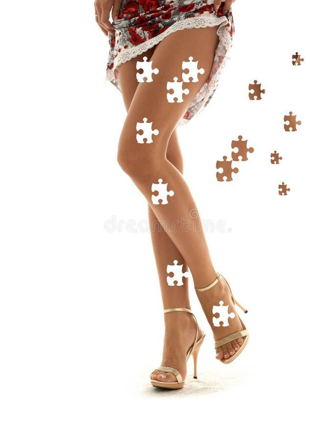 Puzzle de robe de lacet photographie stock libre de droits