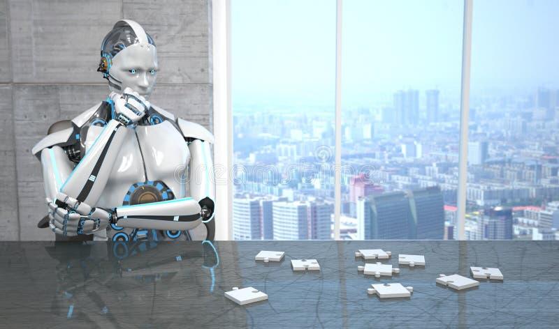 Puzzle de robot illustration de vecteur