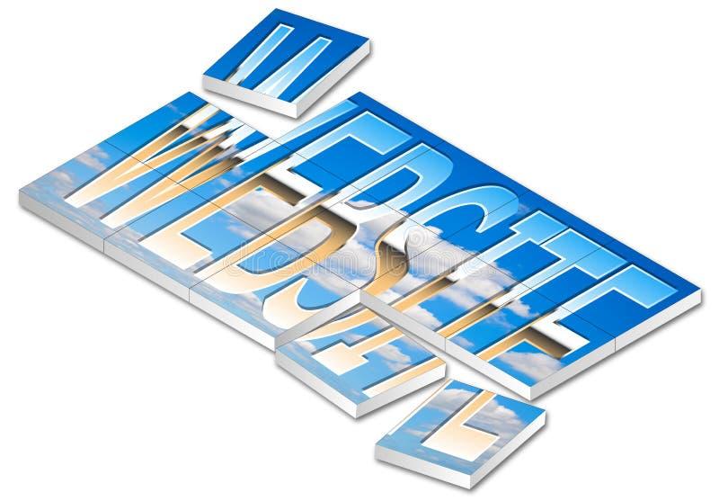 Puzzle de site Web illustration de vecteur