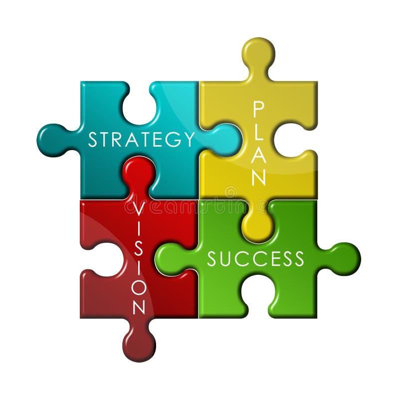 Puzzle de stratégie photographie stock