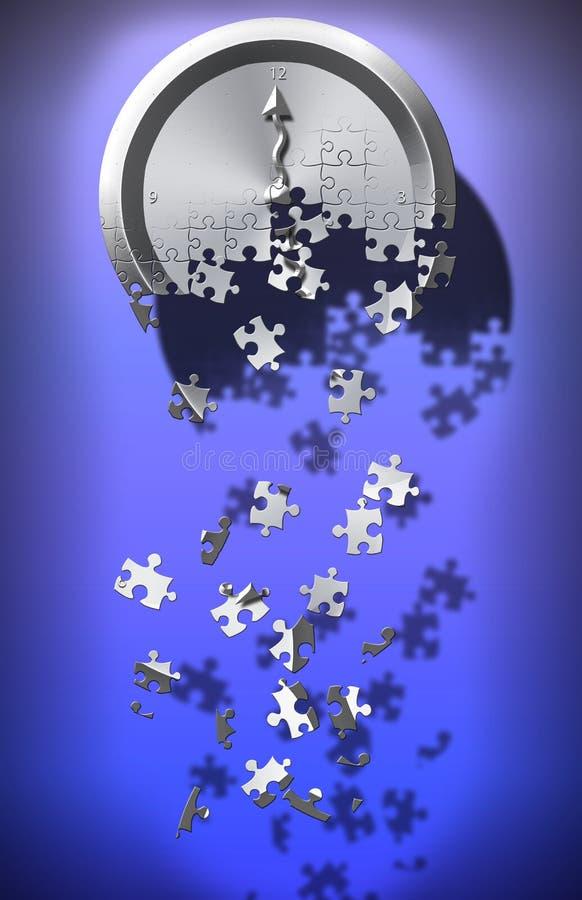 Puzzle de temps illustration libre de droits