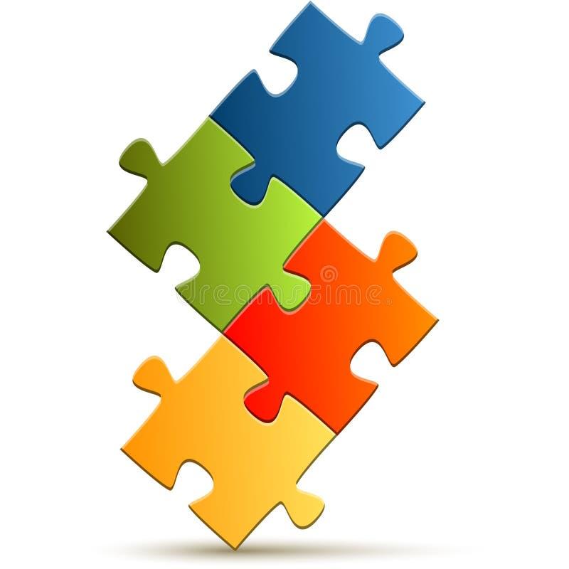 Download Puzzle de travail d'équipe illustration de vecteur. Illustration du données - 56480784