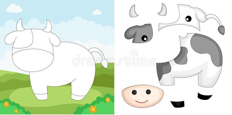 Puzzle de vache illustration de vecteur