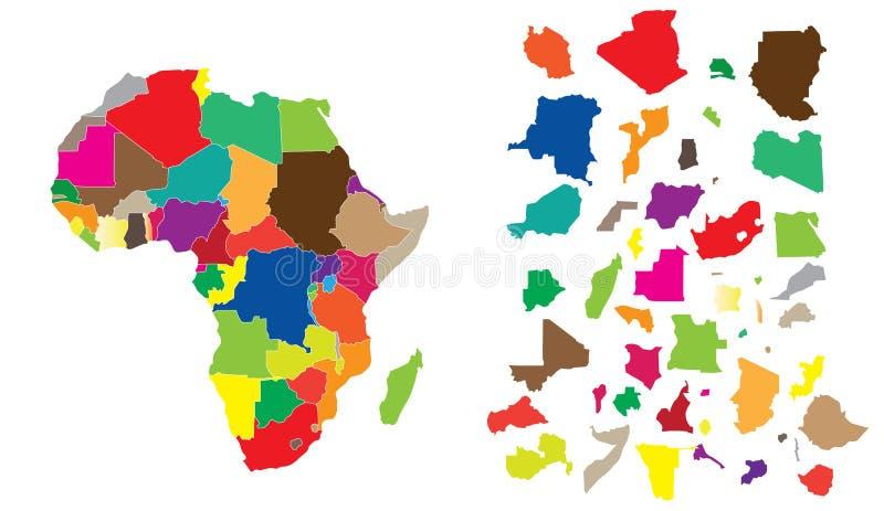 Puzzle del continente dell'Africa illustrazione di stock