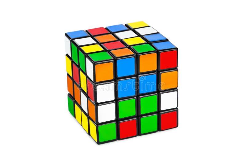 Puzzle del cubo immagini stock