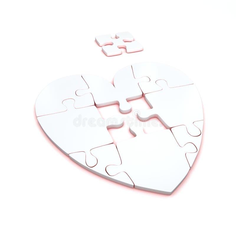 Puzzle del cuore fotografia stock