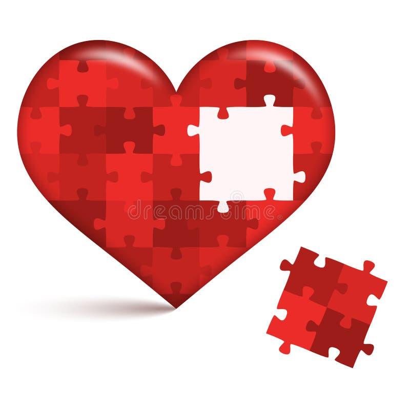 Puzzle del cuore con il posto aperto royalty illustrazione gratis