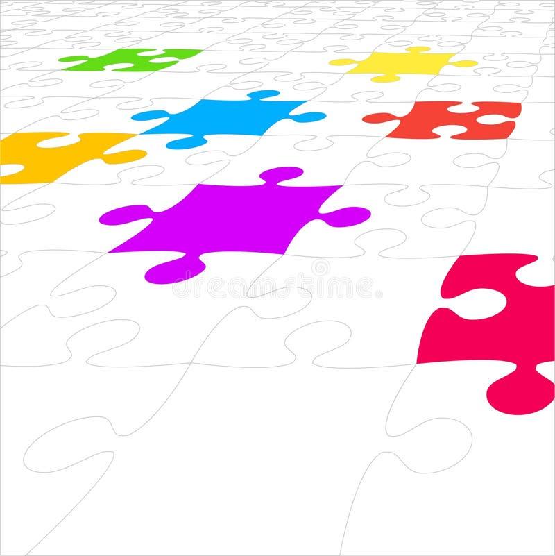 Puzzle del fondo di prospettiva Puzzle del puzzle illustrazione vettoriale