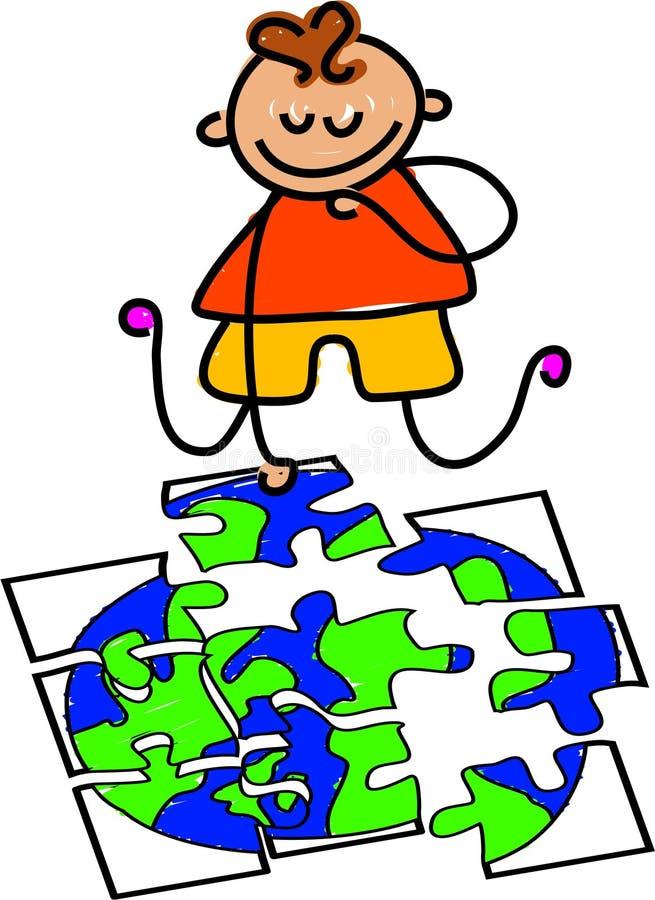 Puzzle del globo royalty illustrazione gratis