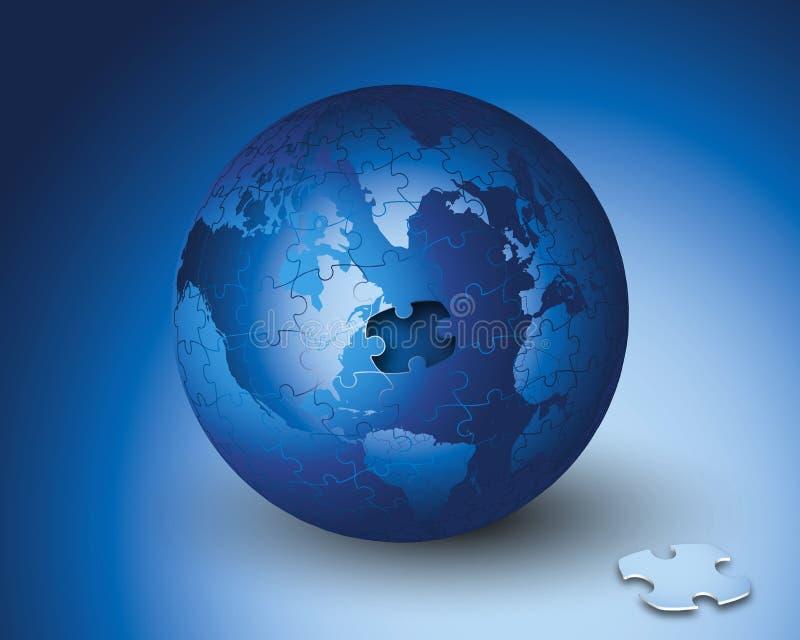 Puzzle del mondo di affari royalty illustrazione gratis