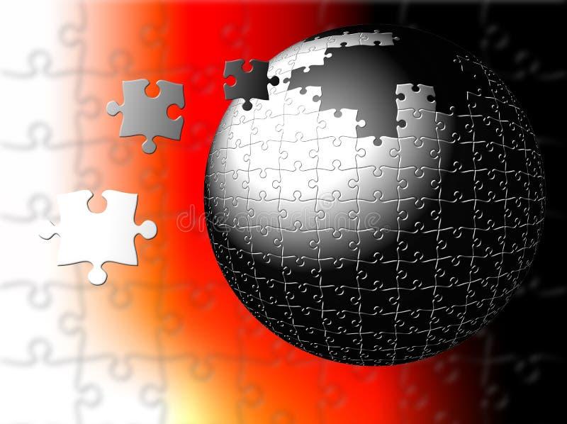 Puzzle del nucleo illustrazione di stock