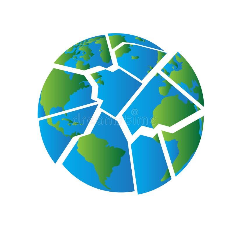 Puzzle del pianeta della terra illustrazione vettoriale