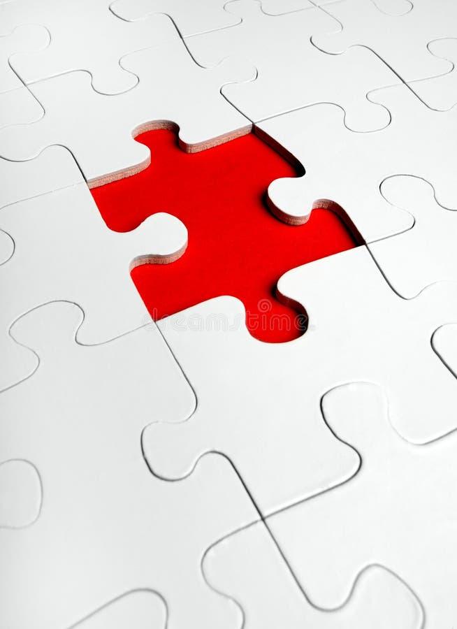 Puzzle del puzzle con i missing fotografia stock libera da diritti