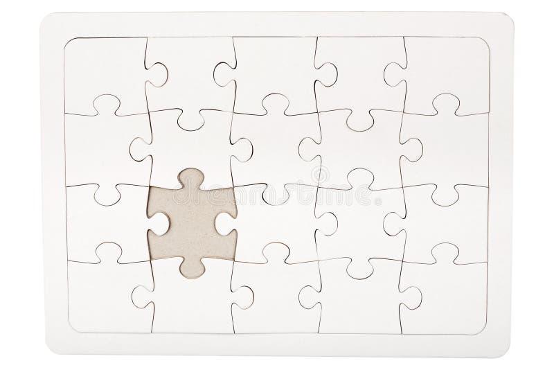 Puzzle del puzzle con la parte mancante immagine stock