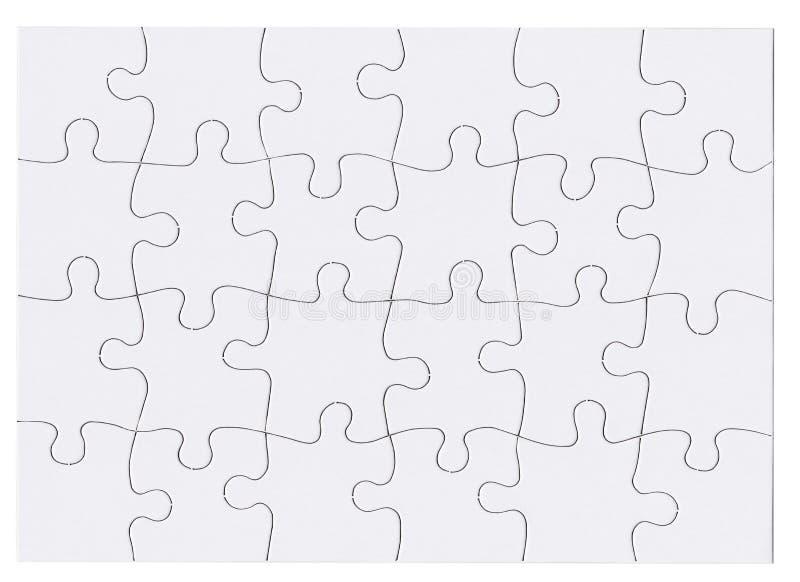 Puzzle del puzzle isolato fotografie stock