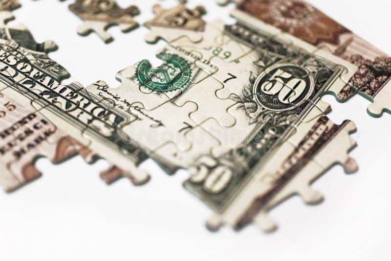 Puzzle della banconota immagini stock libere da diritti