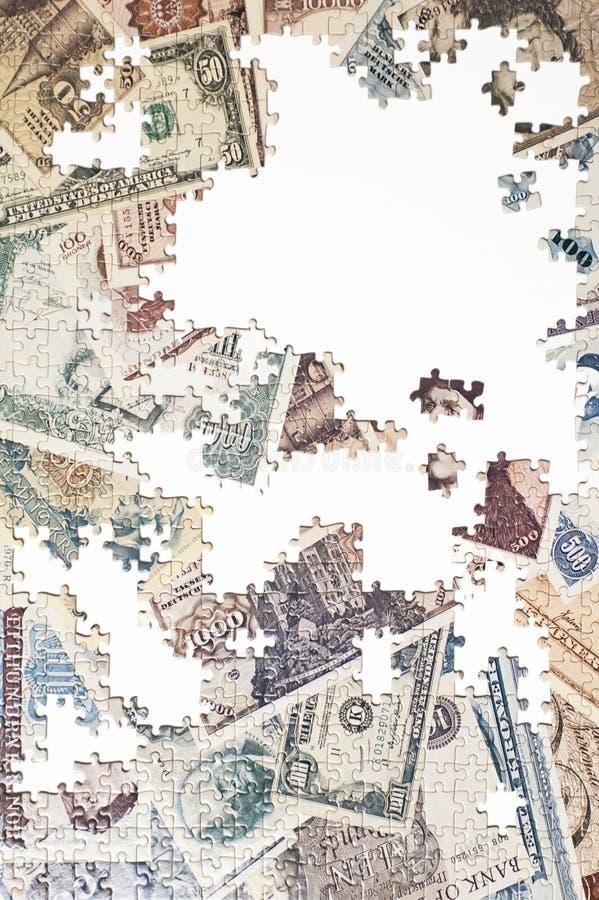 Puzzle della banconota fotografia stock