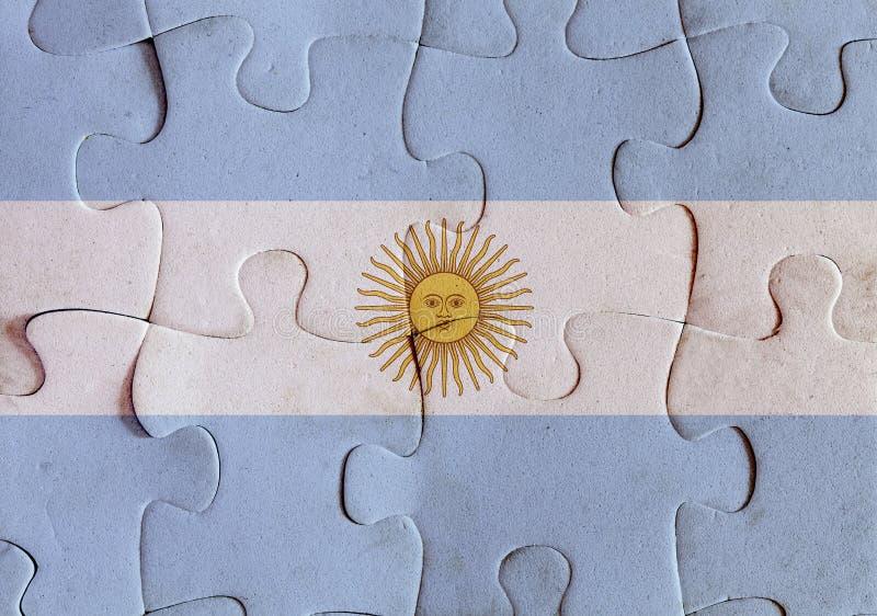 Puzzle della bandiera dell'Argentina royalty illustrazione gratis