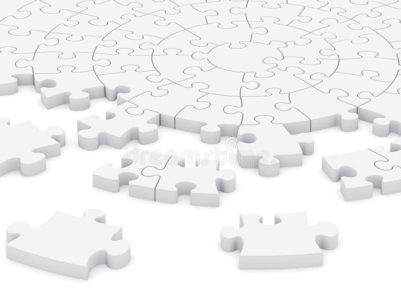 puzzle della circolare 3D illustrazione di stock