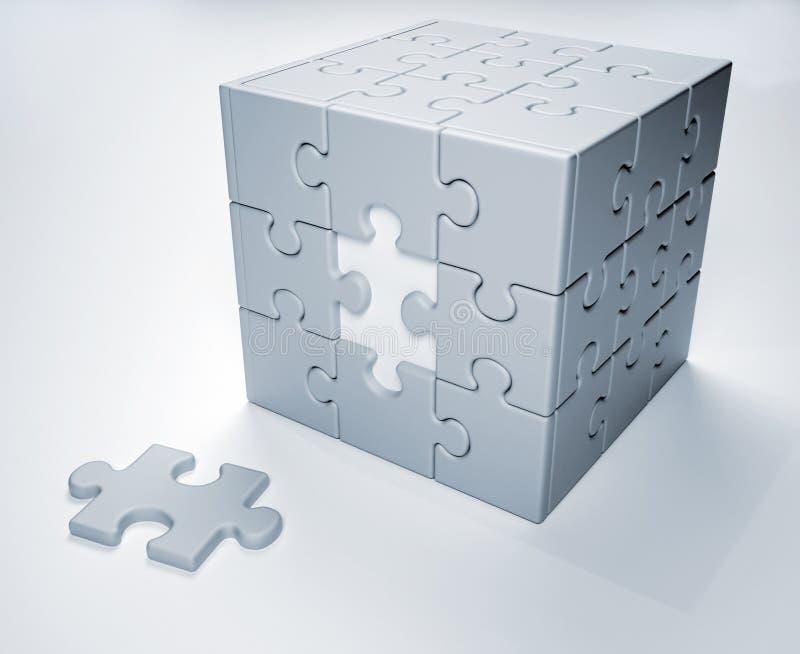 Puzzle denteux illustration stock