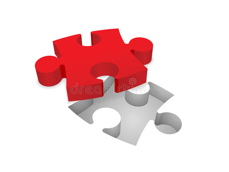 Puzzle denteux illustration libre de droits
