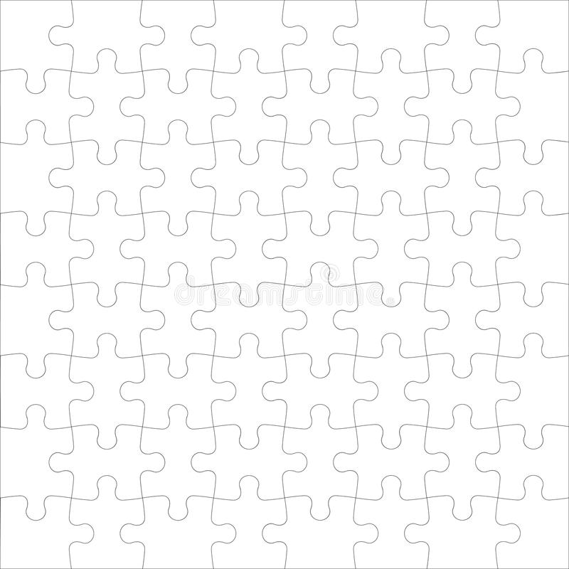 puzzle denteux illustration de vecteur