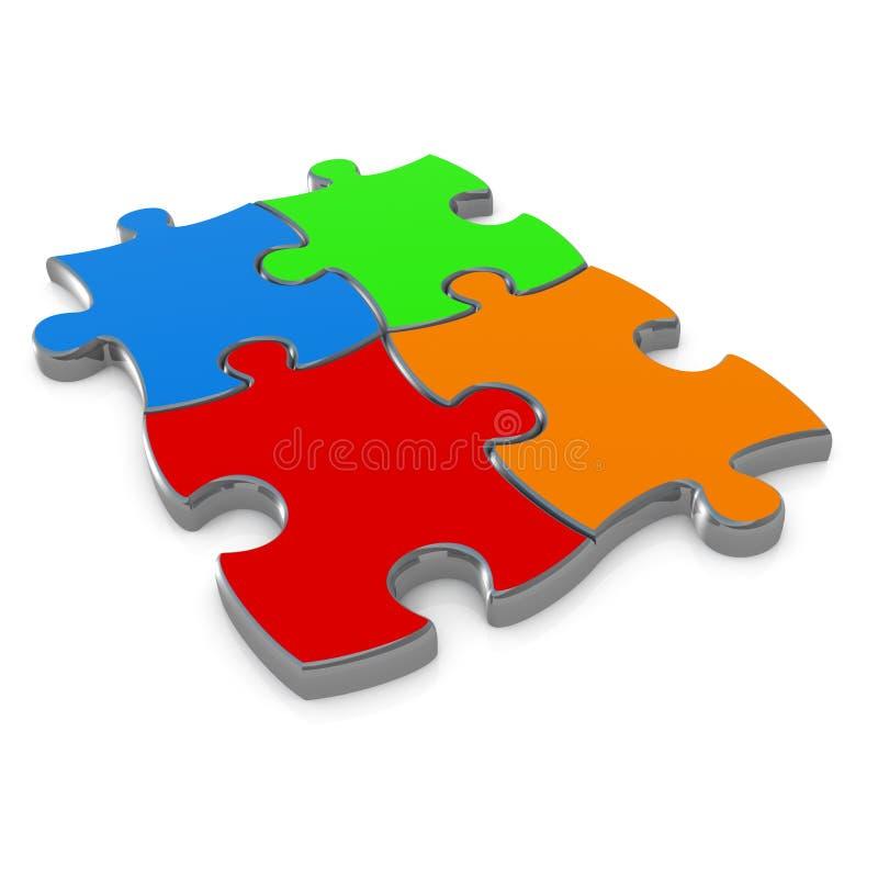 Puzzle denteux illustration de vecteur