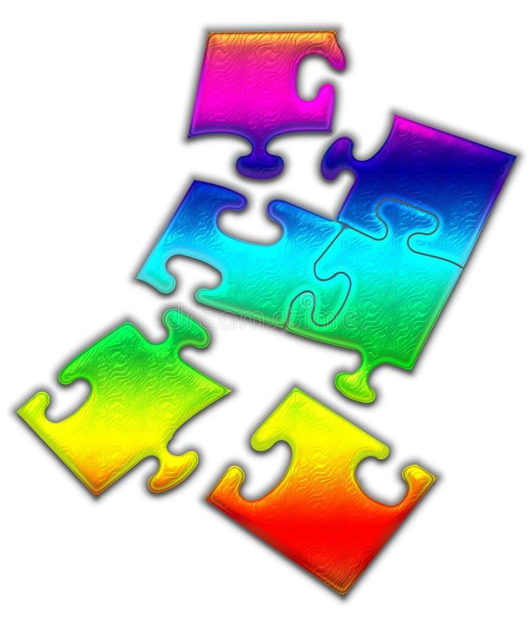 Puzzle denteux coloré image stock