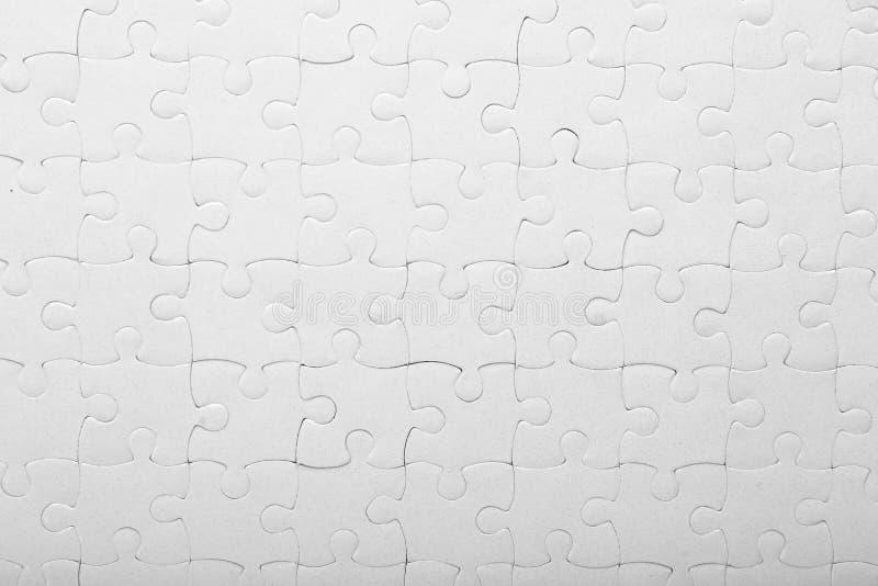 Puzzle denteux complet, plan rapproché images stock