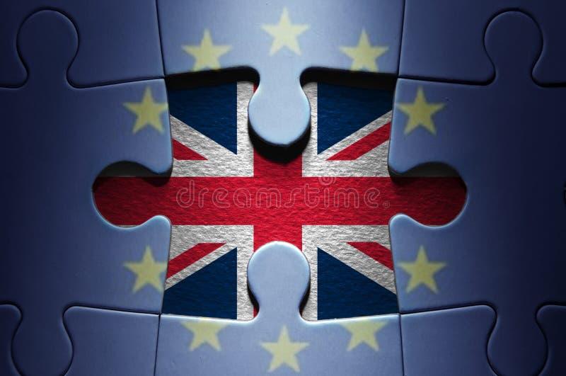 Puzzle denteux de concept de Brexit photographie stock