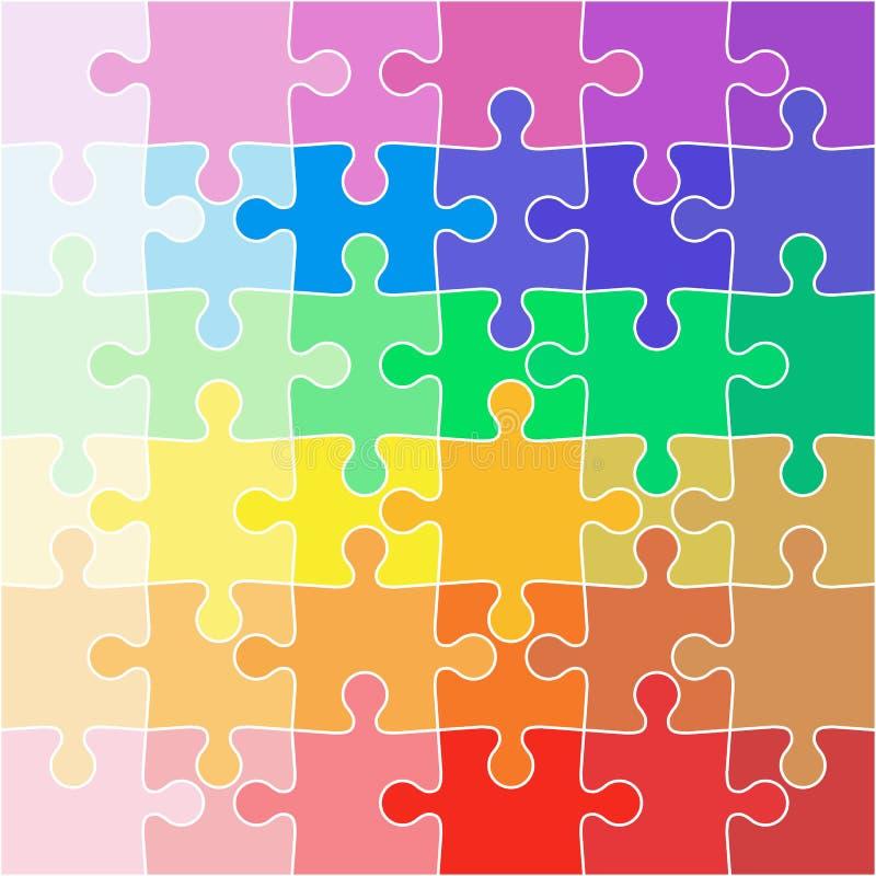 Puzzle denteux de couleur de fond d'illustration abstraite d'icône illustration de vecteur