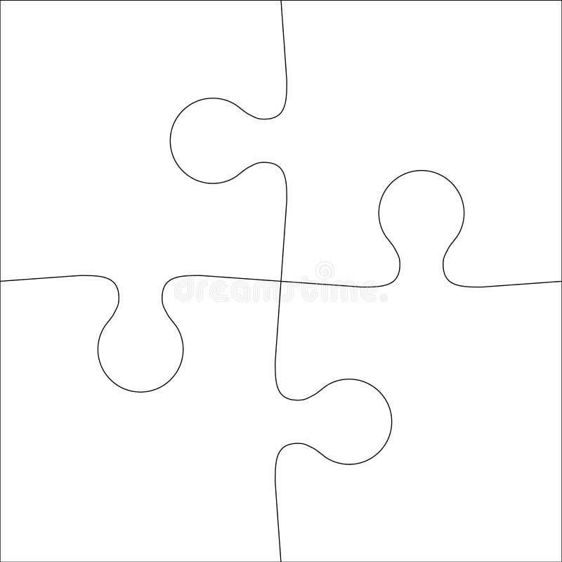 Puzzle denteux de fond d'illustration blanche abstraite d'icône illustration stock
