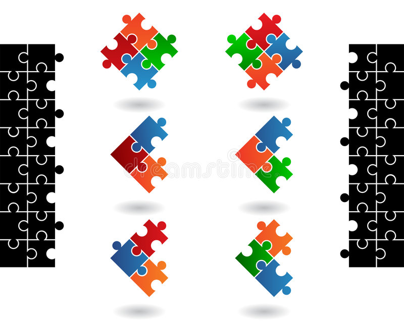 puzzle denteux de graphismes illustration stock