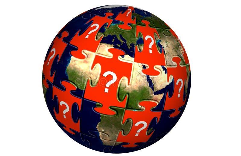 Puzzle denteux du monde illustration libre de droits