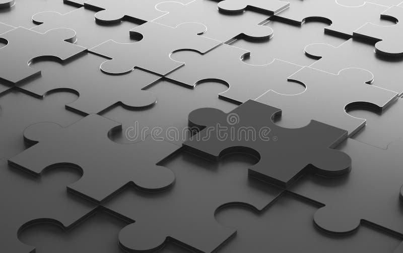 Puzzle denteux noir, fond de texture de modèle dans les affaires illustration stock