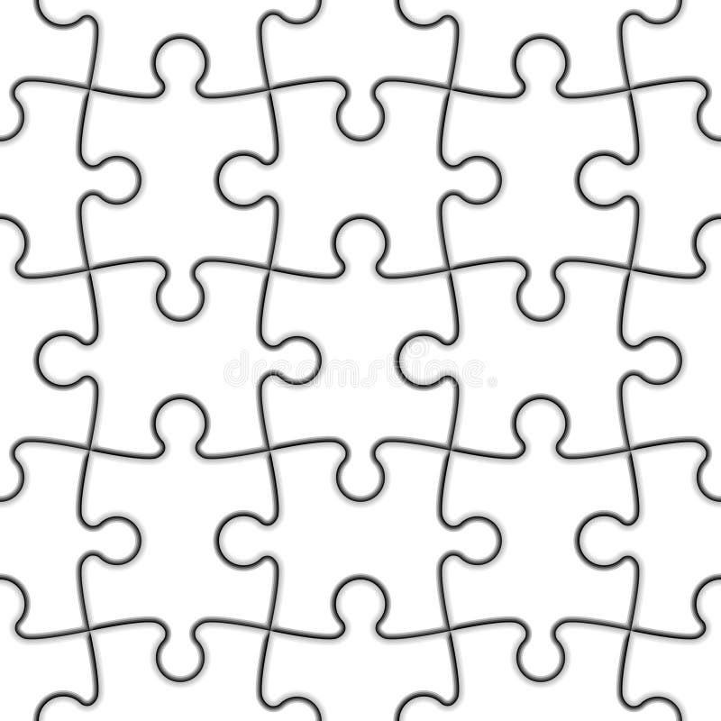 Puzzle denteux sans joint. Vecteur. illustration libre de droits
