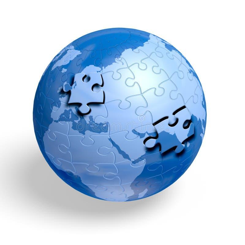 Puzzle der Erde stock abbildung