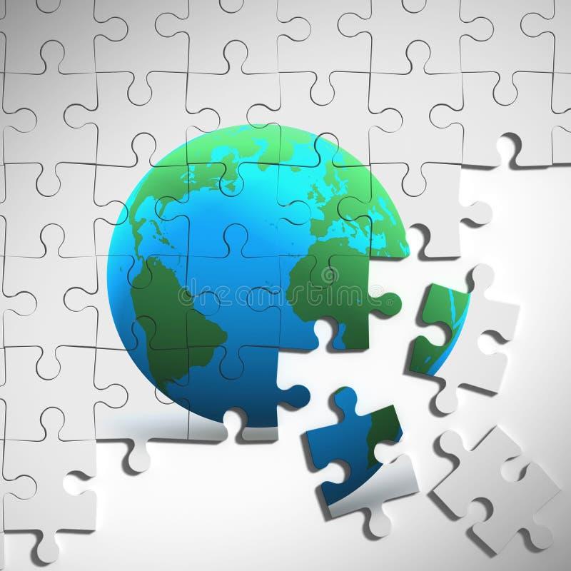 Puzzle der Erde 3d stock abbildung