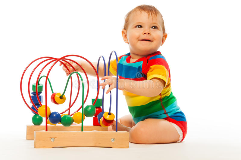 Puzzle developing toy royalty free stock photo
