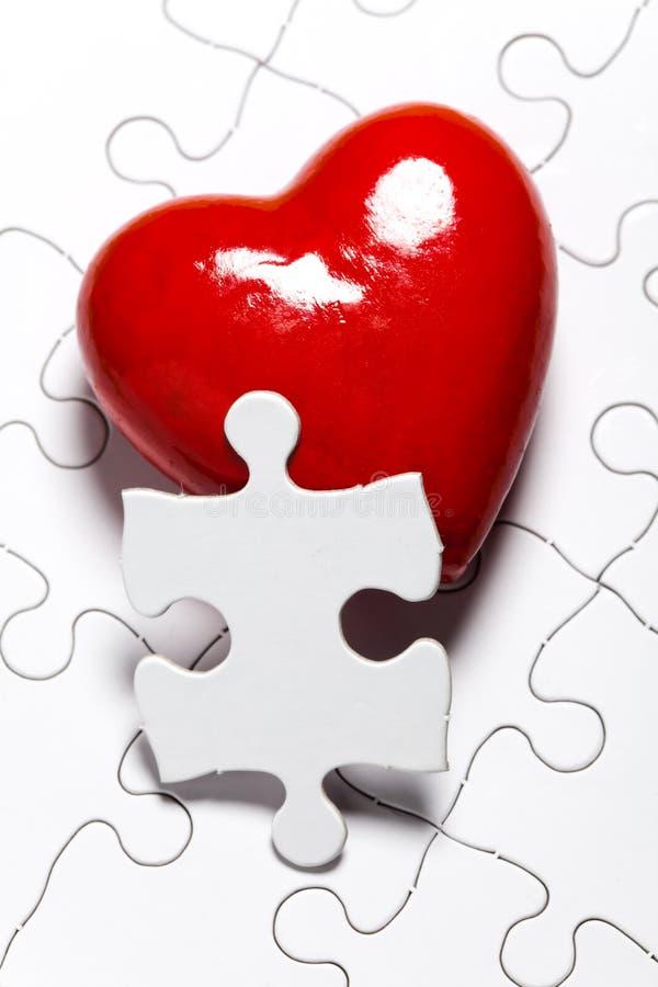 Puzzle di amore fotografia stock