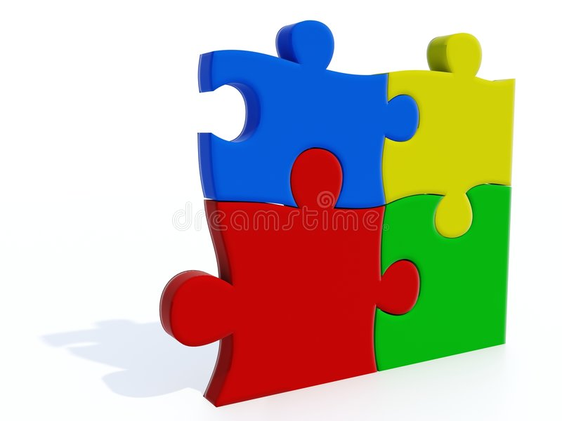 Puzzle di colore royalty illustrazione gratis