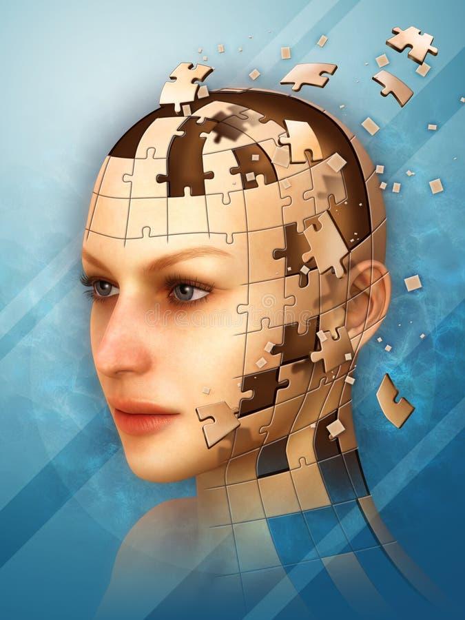 Puzzle di identità illustrazione vettoriale