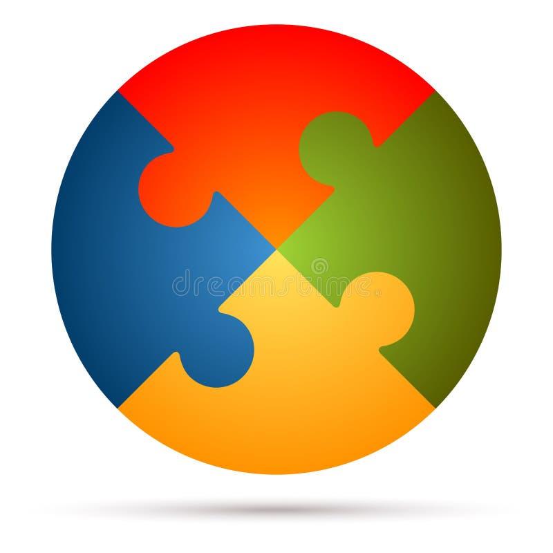 Puzzle di lavoro di squadra illustrazione vettoriale