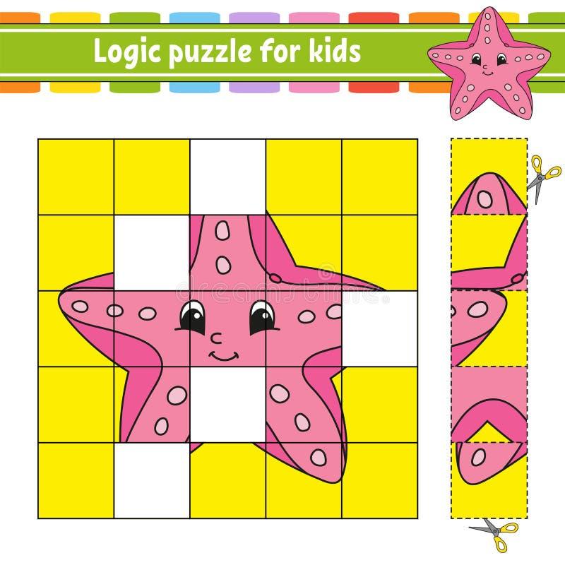 Puzzle di logica per i bambini Foglio di lavoro di sviluppo di istruzione Apprendimento del gioco per i bambini Pagina di attivit royalty illustrazione gratis