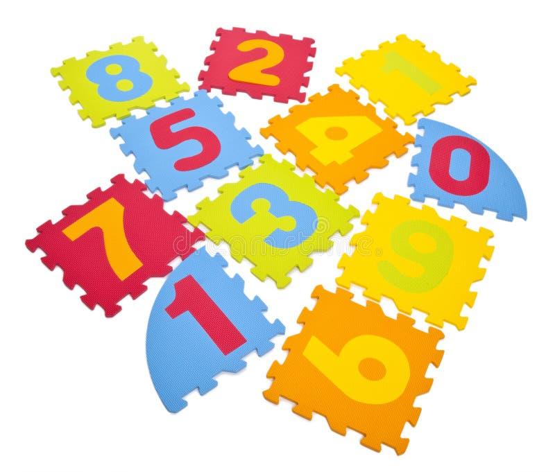 Puzzle di numero immagini stock