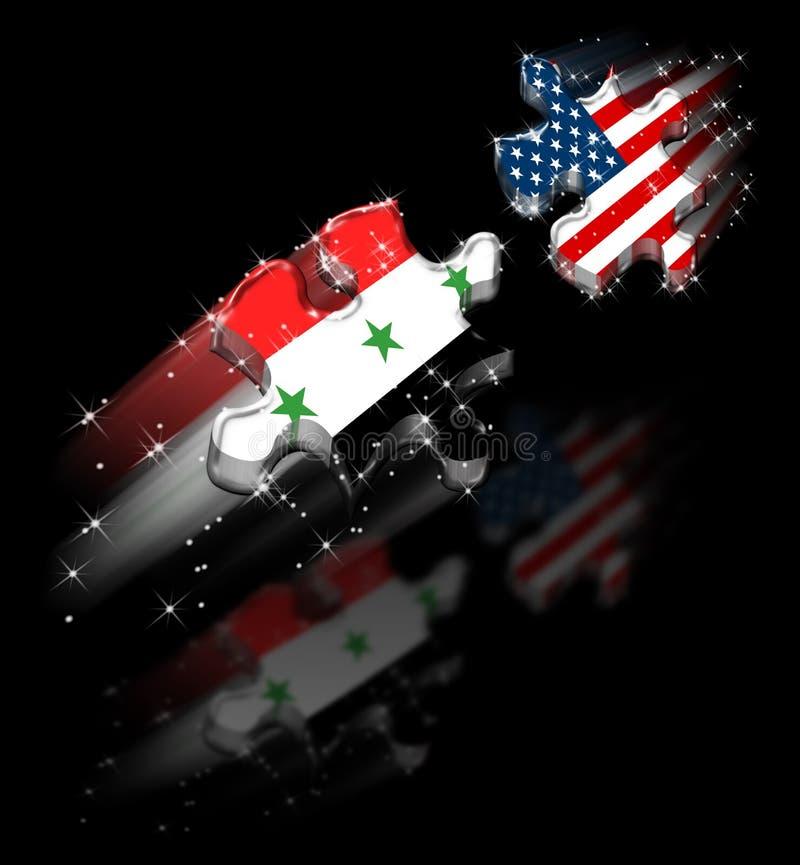 Puzzle di pace degli S.U.A. Iraq illustrazione vettoriale