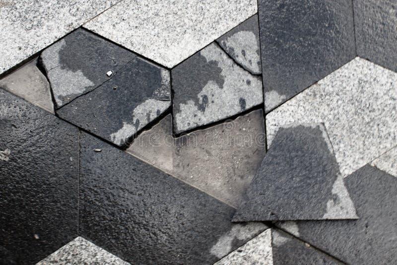 Puzzle di pietra per lastricati fotografia stock